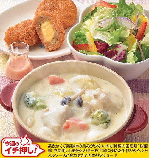 桜姫鶏のクリームシチュー
